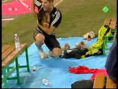 Tragischer Speer Horror Sport Unfall