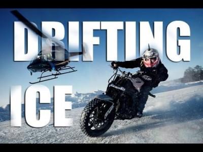 Krasse Schnee und Eis Motorrad Drifts und Stunts