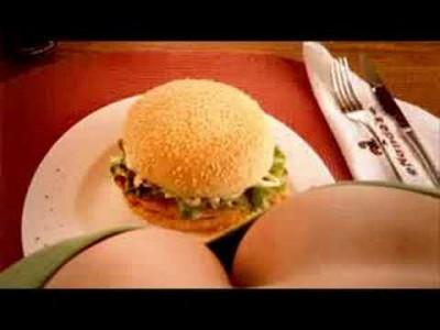 Große dicke Brüste machen schlank – Extrem witzige Werbung